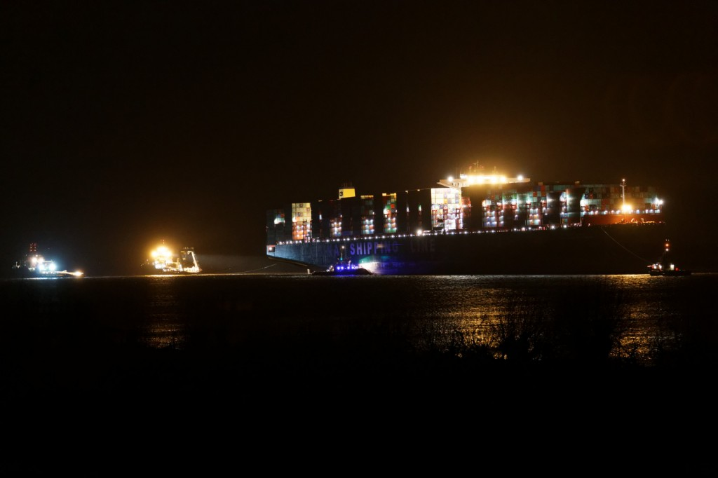 """CSCL Indian Ocean"" vor der Bergung"